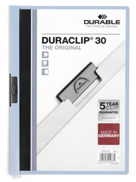 Dosar Durable Duraclip Original, 30 coli, albastru