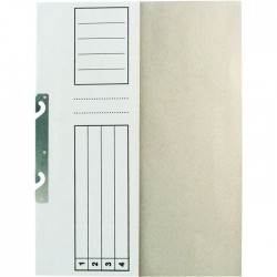 Dosar incopciat 1/2 standard, alb, 10 bucati/set