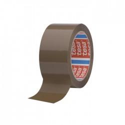 Banda adeziva de ambalare Tesa, maro, 48mm x 66m