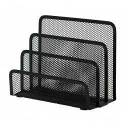Suport metalic Mesh, pentru sortare scrisori, 3 compartimente, Q-Connect - negru