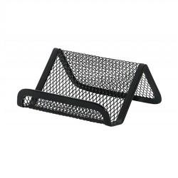 Suport metalic Mesh, pentru carti de vizita, Q-Connect - negru