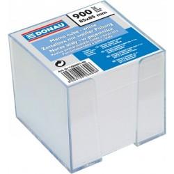 Cub hartie cu suport plastic, 92x92x82mm, DONAU - hartie culoare alba