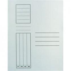 Dosar simplu standard, alb, 10 bucati/set