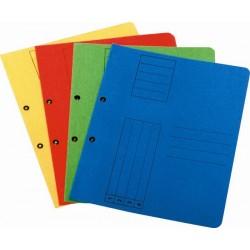 Dosar cu gauri 1/1, carton, 250 g/mp, albastru, 10 bucati/set