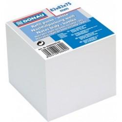Rezerva cub hartie 83x83x75mm, DONAU - hartie culoare alba