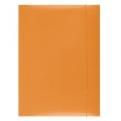 Mapa din carton plastifiat cu elastic, 300gsm, Office Products - orange