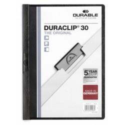 Dosar Durable Duraclip Original, 30 coli, negru