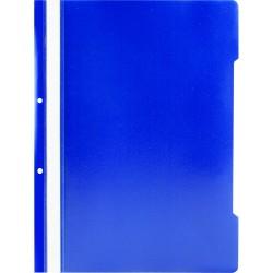 Dosar plastic cu sina si 2 perforatii, bleumarin, 25 buc/set