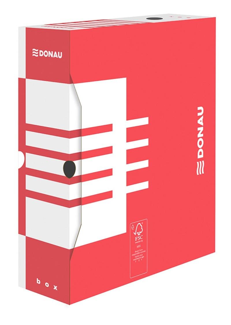 Cutie arhivare 10cm, DONAU - rosu