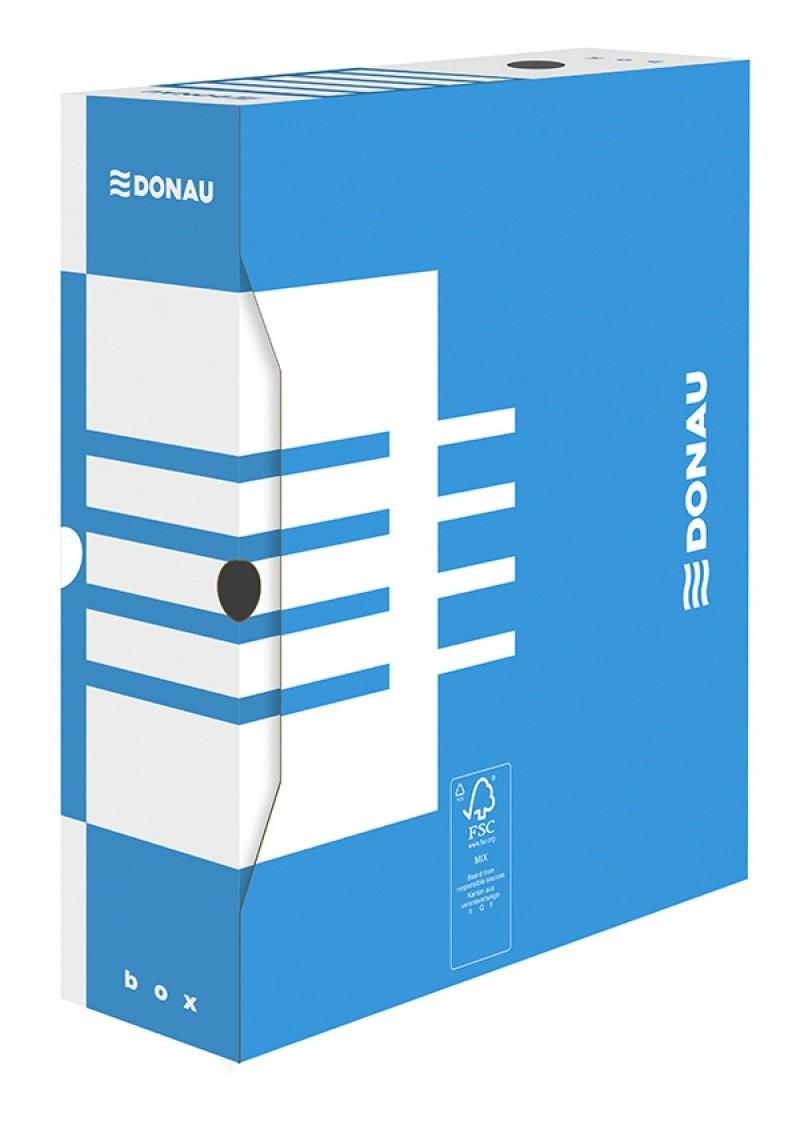 Cutie arhivare 10cm, DONAU - albastru