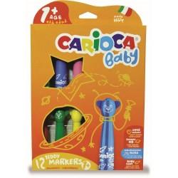 Carioca super lavabila, 12 culori/cutie, CARIOCA Baby Teddy 1