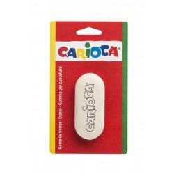 Radiera rotunjita alba, 1 buc/blister, CARIOCA
