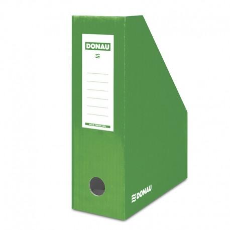 Suport vertical pentru cataloage, A4 - 10cm latime, din carton laminat, DONAU - verde