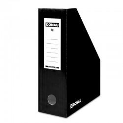 Suport vertical pentru cataloage, A4 - 10cm latime, din carton laminat, DONAU - negru