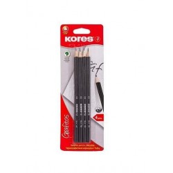 Creioane grafit Kores Grafitos, corp negru