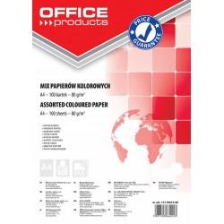 Hartie color, 80g/mp, 100 (5 x 20) coli/top, Office Products - culori pale asortate