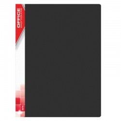 Dosar de prezentare cu 40 folii, A4, coperta rigida PP, Office Products - negru
