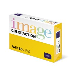 Carton color Coloraction, A4, 160 g, 250 coli/top, galben intens - Sevilla