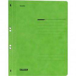 Dosar cu gauri 1/1 Falken Lux, carton, 250 g/mp, verde