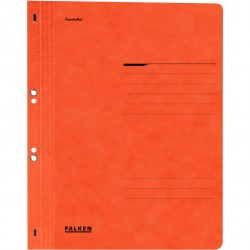 Dosar cu gauri 1/1 Falken Lux, carton, 250 g/mp, portocaliu