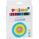 Markere Morocolor pentru copii, 12 culori/cutie