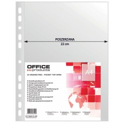 Folie protectie pentru documente A4, 90 microni, 50/set, Office Products Maxi - transparenta