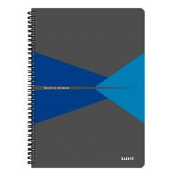 Caiet de birou LEITZ Office, PP, A4, cu spira, matematica - albastru