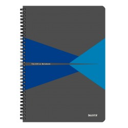 Caiet de birou LEITZ Office, carton, A4, cu spira, matematica - albastru