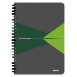 Caiet de birou LEITZ Office, PP, A5, cu spira, matematica - verde