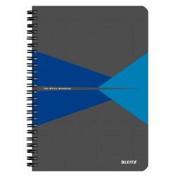 Caiet de birou LEITZ Office, PP, A5, cu spira, dictando - albastru