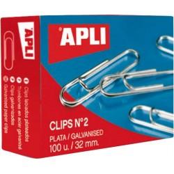 Agrafe de birou Apli, 40 mm, 100 bucati/cutie