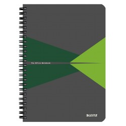 Caiet de birou LEITZ Office, carton, A5, cu spira, matematica - verde