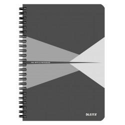 Caiet de birou LEITZ Office, carton, A5, cu spira, matematica - gri