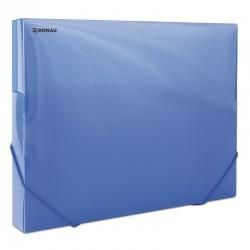 Mapa din plastic cu elastic pe colturi, latime 30mm, 700 microni, DONAU - albastru transparent