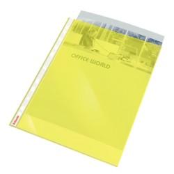Folie protectie ESSELTE, A4, cristal, 55 mic, 10folii/set - galben