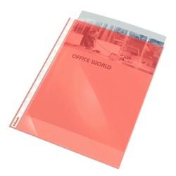 Folie protectie ESSELTE, A4, cristal, 55 mic, 10folii/set - rosu