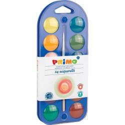 Acuarele cu paleta Morocolor, 24 culori, diametru pastila 25 mm