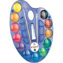Acuarele cu paleta Morocolor Easy Colour, 12 culori/set