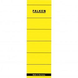 Etichete autoadezive pentru biblioraft 60 x 190 mm, galben