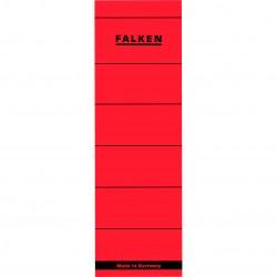 Etichete autoadezive pentru biblioraft 60 x 190 mm, rosu