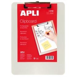 Clipboard simplu APLI, A4, aluminiu