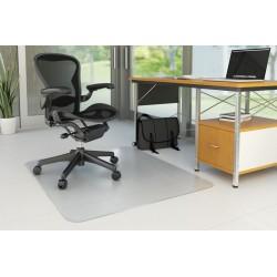 Covoras PVC transparent, protectie parchet/gresie, 120 x 90cm - forma dreptunghiulara, Q-Connect