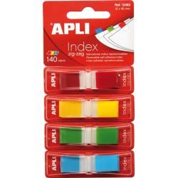 Index Apli Pop-Up 4 culori, 12 x 45 mm, 4 x 35 file