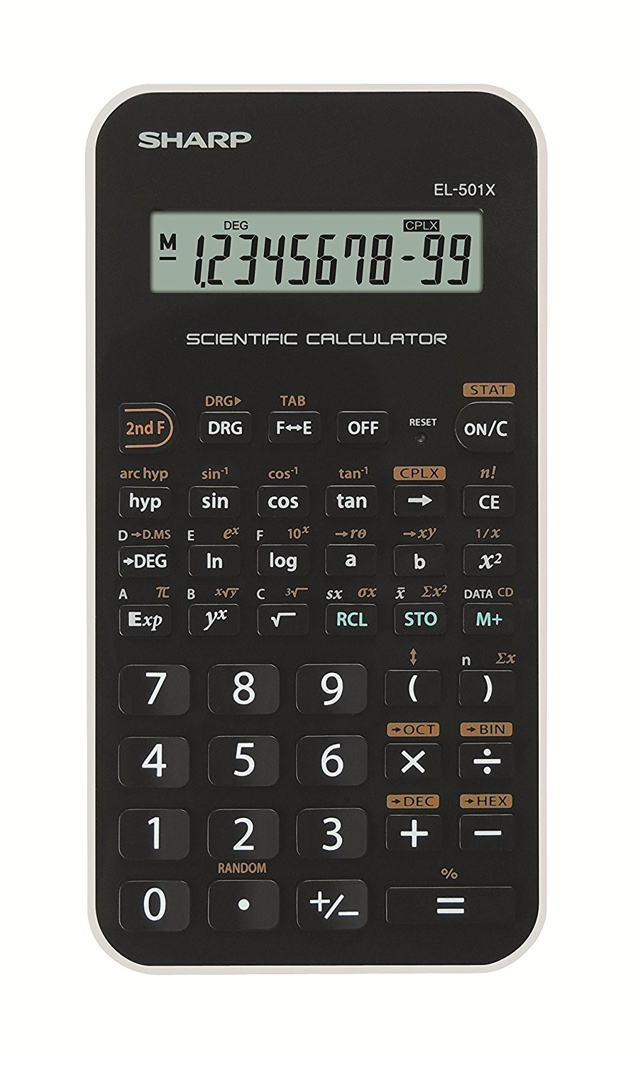 Calculator stiintific, 10 digits, 131 functiuni, 144 x 75 x 10 mm, SHARP EL-501XBWH - negru/alb