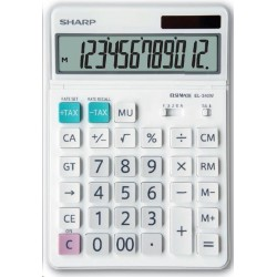 Calculator de birou, 12 digits, 189 x 127 x 18 mm, SHARP EL-340W - alb