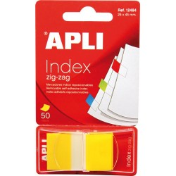 Index Apli Pop-Up galben, 25 x 45 mm, 50 file