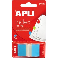Index Apli Pop-Up albastru, 25 x 45 mm, 50 file
