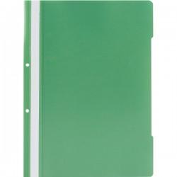 Dosar din plastic cu sina si 2 perforatii, A4, verde deschis, 25 buc/set