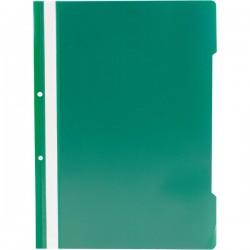 Dosar din plastic cu sina si 2 perforatii, A4, verde, 25 buc/set