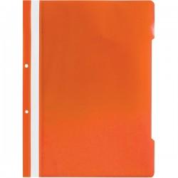 Dosar din plastic cu sina si 2 perforatii, A4, portocaliu, 25 buc/set
